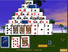 play online pyramid-13 - pyramid solitaire twist