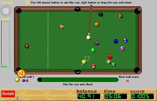 Pool Rush Play Online Single Player Pool Internet Tournaments